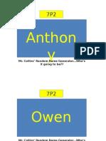 Copy of Random Name Generator 7P2