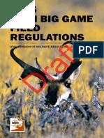 2015 Utah Big Game Field Regulations Draft