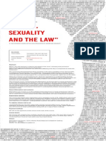 Gender, Sexuality and the Law