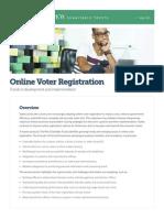 Pew Online Voter Registration Brief
