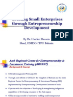 Creating Small Enterprises Through Entrepreneurship Development