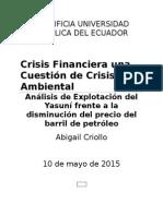 Crisis Financiera y Crisis Ambiental-Abiail Criollo