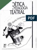 KNÉBEL, Maria - Poética de La Pedagogia Teatral