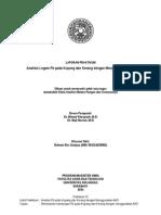 Laporan Praktikum 6; Analisis Logam Pb Pada Kupang Dan Kerang Dengan Menggunakan AAS