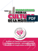 Les 11 propositions pour la culture de la motion B