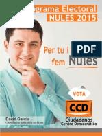 Programa Ccd Nules 2015