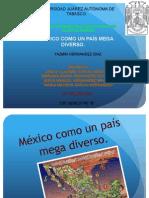 Mexico Como Un Pais Mega Diverso.