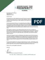 AFP-FL Letter to Gov Scott