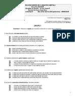 Teste Sumativo 5 11ºB 30.4.2015 Com a Correção Das Questões