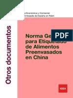 Normatividad de etiquetado de alimentos en China