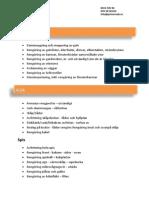 Flyttstädning Checklista Primero AB