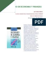 Diccionario de Economía y Finanzas Por Carlos Sabino