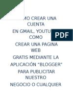 Como crear una pagina web con blogger