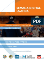 Semana Digital Luanda - Vasco Marques - Workshops Marketing Digital
