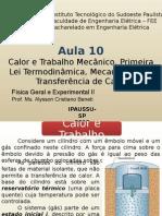 F2 Aula 10 Calor e Trabalho Primeira Lei Da Termodinâmica Transferência de Calor