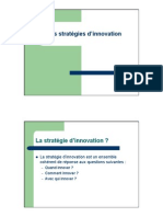 Les Stratégies d'Innovation