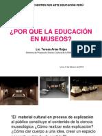 ¿POR QUE LA EDUCACIÓN EN MUSEOS