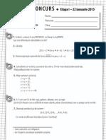 test gazeta de matematica