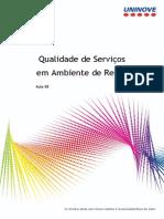 Qualidade de Serviço Em Ambiente de Redes - Aula08