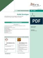 Acide formique-Toxicologie