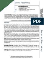 balanced food whey vanilla clinical applications