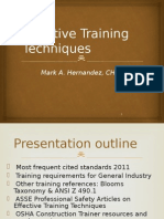 Effective Training Techniques - Sept 2012 Call2