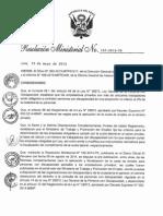 MINTRA - RM 107-2015 - Normas Complementarias Para La Aplicación y Fiscalización Del Cumplimiento de La Cuota de Empleo Para Personas Con Discapacidad en El Sector Privado