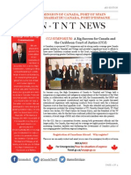 3rd Edition of CHC Newsletter of the High Commission of Canada, Port of Spain, Trinidad and Tobago