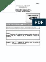 Iniciativa 4703 Reformas Código de Trabajo