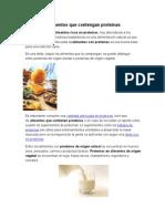 Alimentos Que Contengan Proteínas