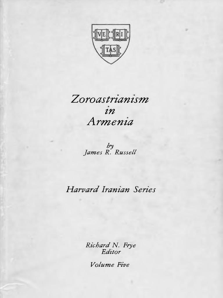 Zoroastrianism In Armenia Zoroastrianism