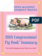CITIZENS AGAINST GOVERNMENT WASTE Pig Book 2015