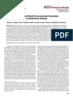Proximal and Distal Environmental Correlates