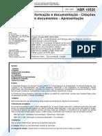 NBR 15020 - Citações
