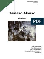 Insomnio Dámaso Alonso