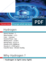 Hydrogen as Engine Fuel