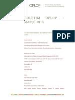 Boletim Oplop Marco 2015