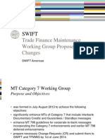 SWIFT Trade Finance Messages and Anticipated Changes 2015