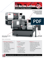 Especificaciones, Torno CNC, ST-10