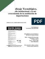 Aprendizaje tecnológico. Economía argentina