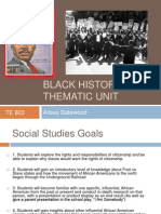 Black History Thematic Unit