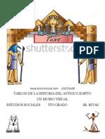 tablon de la historia del antiguo egipto