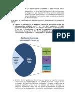 Estructura de La Ley de Pesupuesto Para El Año Fiscal 2015