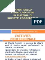 Pareri Dello Studio Agostini in Materia Di Societa