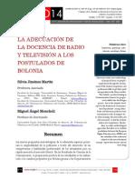 Icono14. Nº14. La adecuación de la docencia de la radio y televisión a los postulados de Bolonia