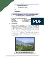Ampliacion y Mejoramiento de Los Sistemas de Agua Potable y Alcantarillado de La Localidad de Cascas