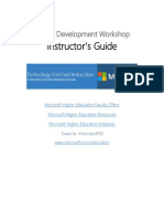 Microsoft TEI Faculty Development Workshop – Instructor's Guide