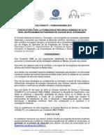 Convocatoria Becas CONACYT-FINBA 2015