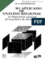 Rondinelli Metodo Aplicado de Analisis Regional