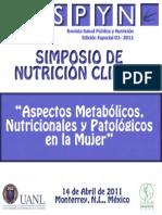 Aspectos Metabolicos, Nutricionales de La Mujer
